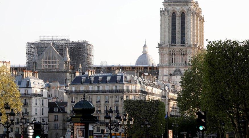 Catedral de Notre-Dame, em Paris, passa por reparos após incêndio