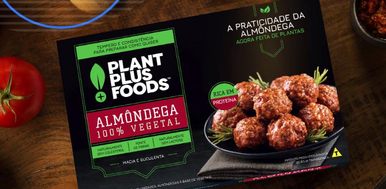 Almôndegas da PlantPlus Foods, empresa da brasileira Marfrig e a norte-americana ADM