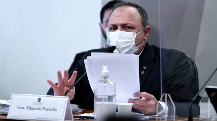 Eduardo Pazuello, ex-ministro da Saúde, em oitiva na CPI da Pandemia