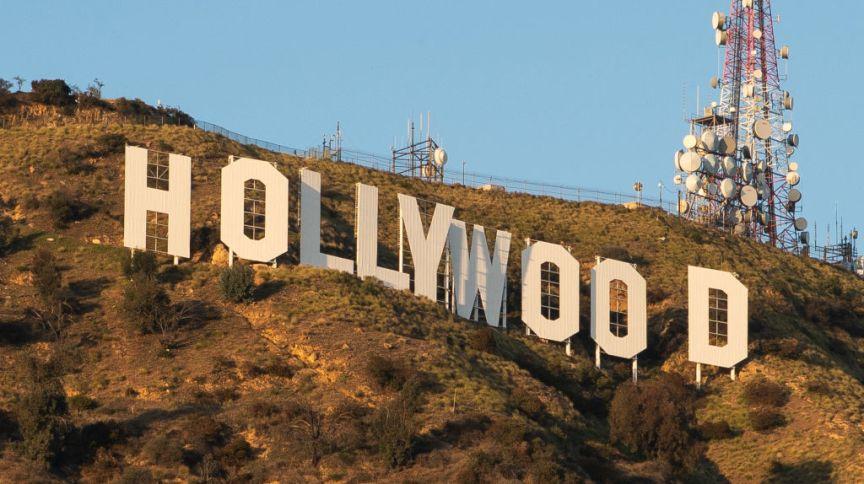 Vista do letreiro de Hollywood no Monte Lee em 18 de março de 2020, em Los Angeles, Califórnia