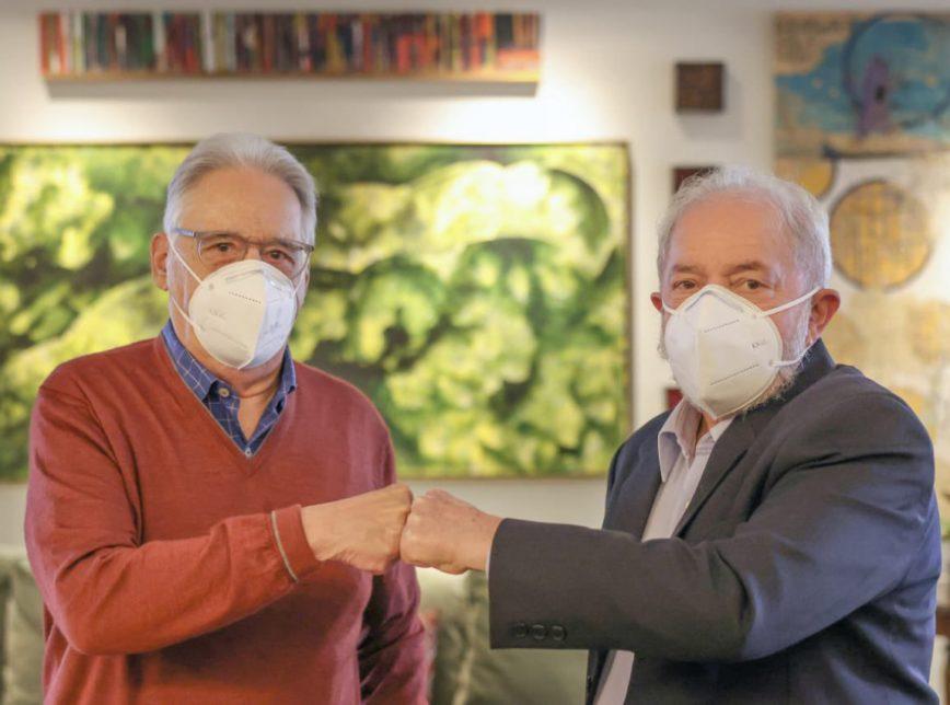 Os ex-presidentes Lula e Fernando Henrique Cardoso (21 de maio de 2021)