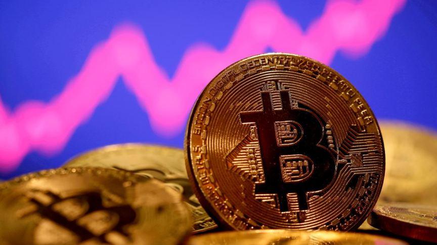 Representação da moeda virtual Bitcoin