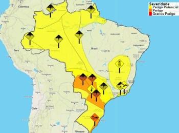 Chuvas devem afetar essas regiões ao longo deste fim de semana