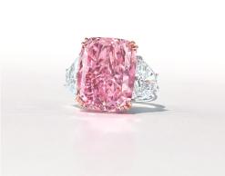 """Nomeado como """"Sakura"""", diamante é o maior do tipo a aparecer em um leilão"""