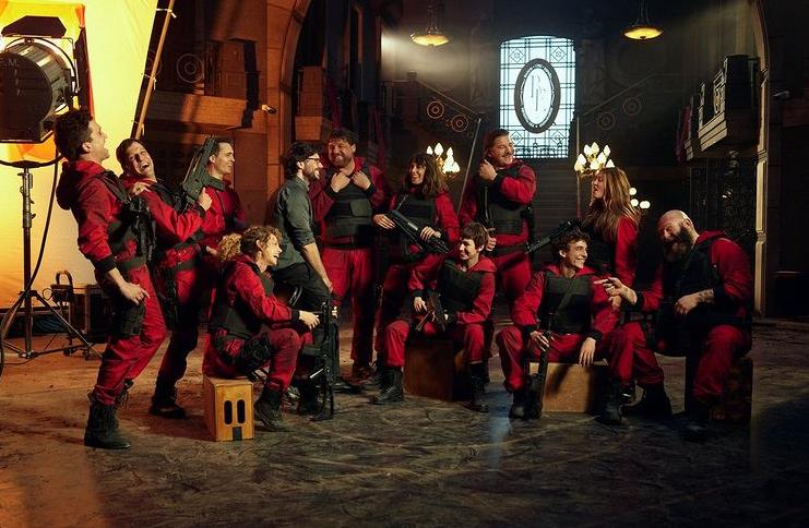 O elenco de 'La Casa de Papel' reunido nas filmagens da quinta e última temporada