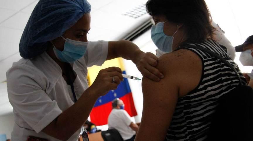 Vacinação em Caracas, Venezuela