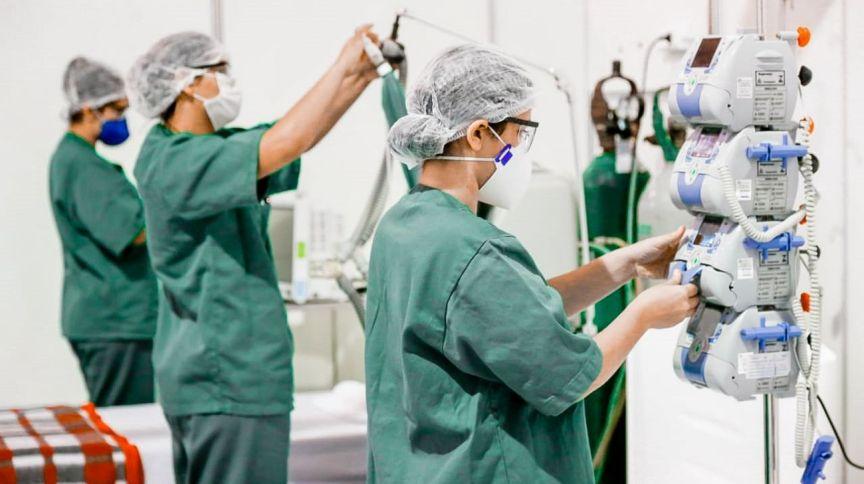 Profissionais da área da saúde em Santarém. Pará, 22 de abril de 2020.