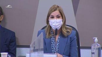 Mayra Pinheiro diz que objetivo era oferecer ferramenta para ajudar médicos a diagnosticar Covid-19; plataforma recomendava remédios sem comprovação de eficácia