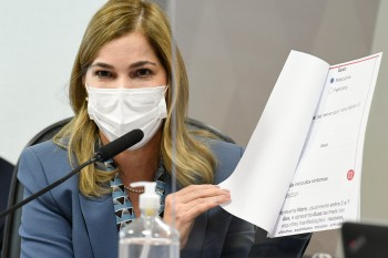 Secretária de Gestão do Trabalho e Educação do Ministério da Saúde foi ouvida pelos senadores na CPI da Pandemia