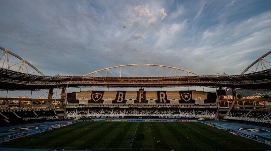 Vista geral do Engenhão, estádio do Botafogo. Imagem de 2 de maio de 2021