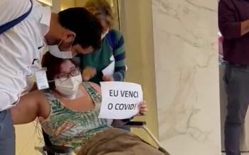 Gabrielle Ferreira, de 29 anos, ficou em estado grave por 4 semanas devido às complicações causadas pelo vírus; agora, ela fará sessões diárias de fisioterapia