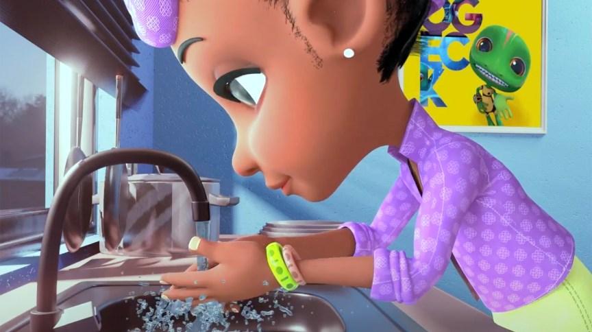 Animação nigeriana criou o 'monstro do coronavírus' para explicar doença para crianças