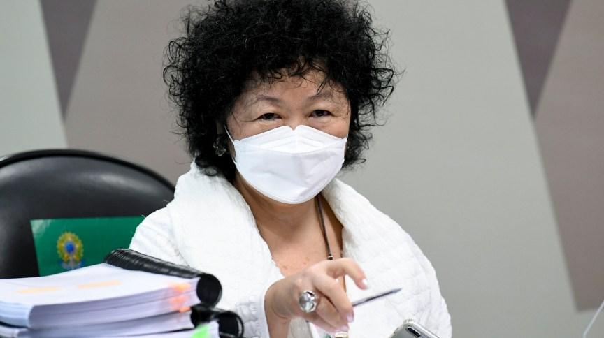 A médica Nise Yamaguchi é ouvida pela CPI da Pandemia