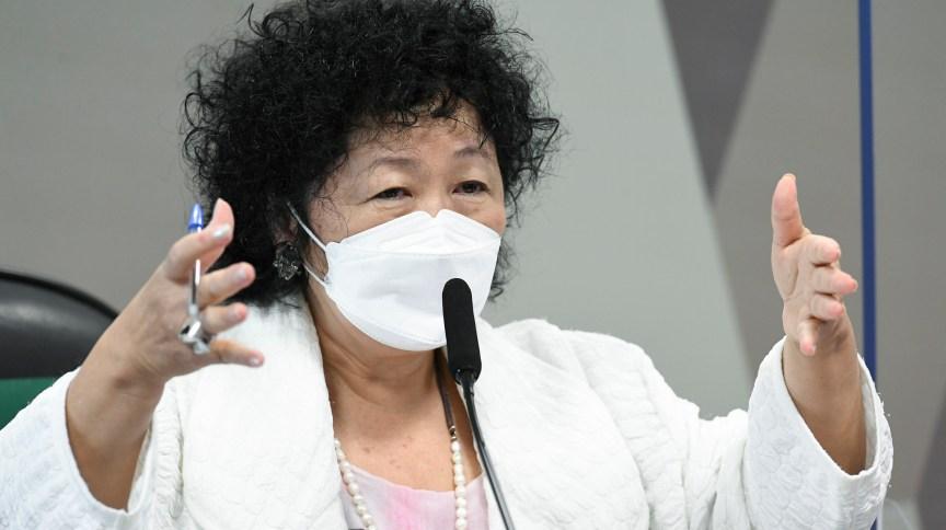 A médica oncologista e imunologista Nise Hitomi Yamaguchi durante depoimento à CPI da Pandemia