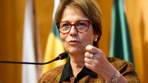 Ministra Tereza Cristina testa positivo para a Covid-19