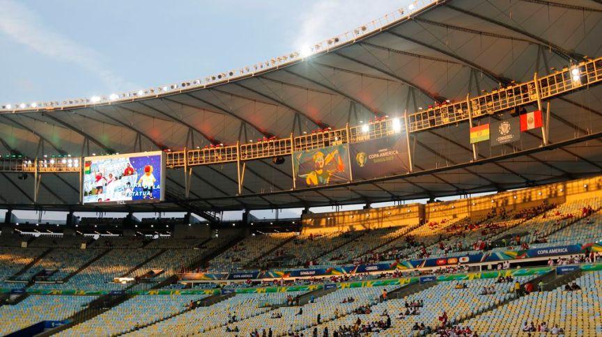 Arquibancada durante jogo entre Bolívia e Peru, no Maracanã, pela Copa América de 2019
