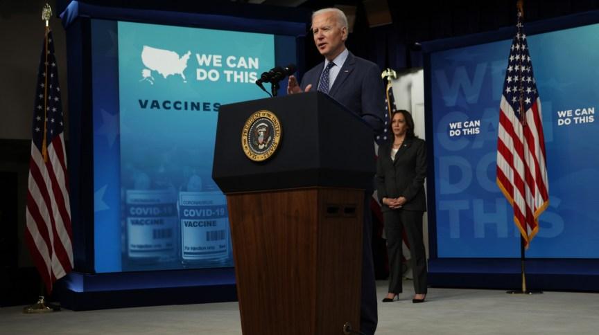 Presidente dos EUA, Joe Biden, fala sobre programa de vacinação contra Covid-19