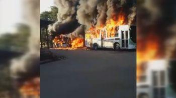 Ônibus não circularam na manhã deste domingo (6); polícia investiga causas da ação