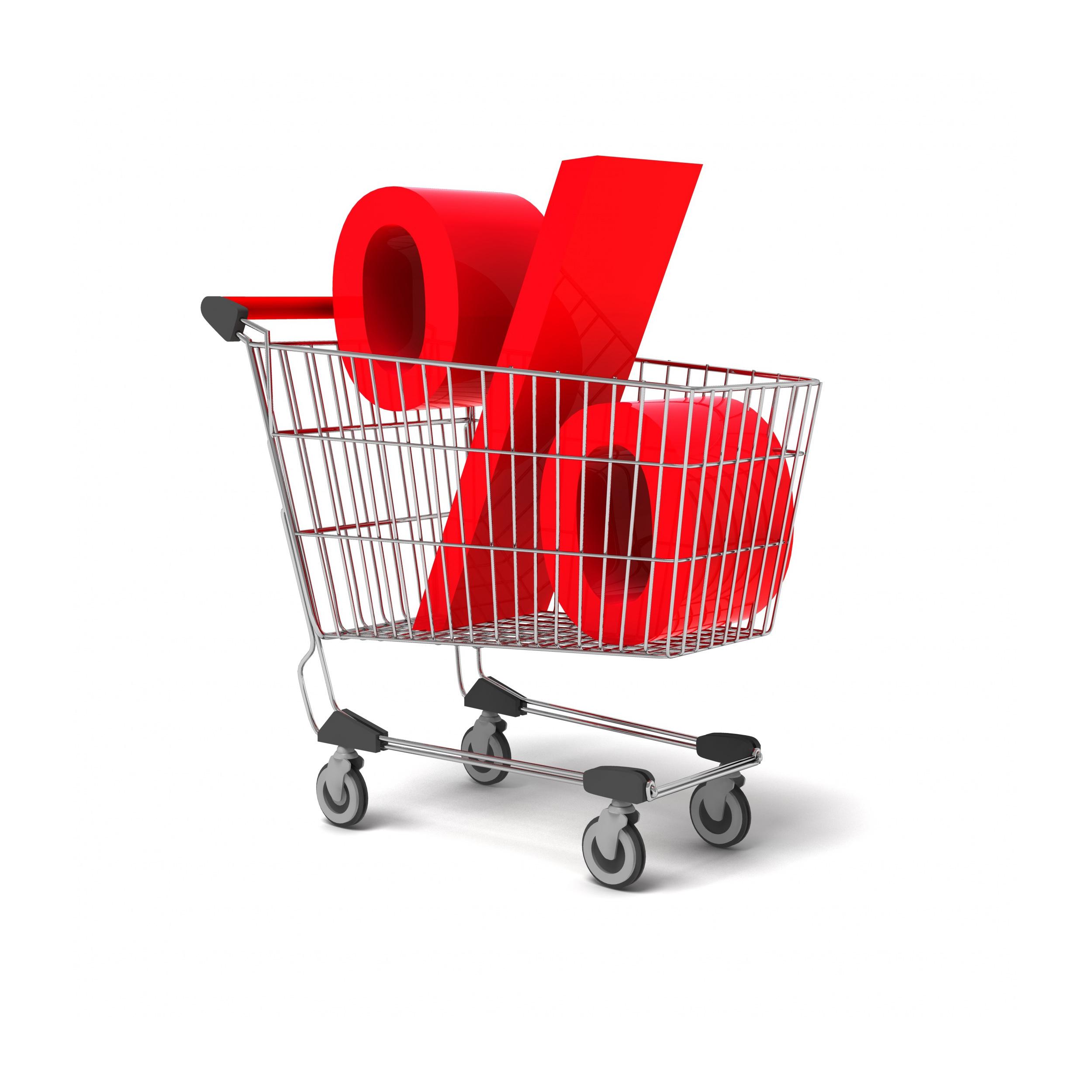 Carrinho de compras porcentagem inflação preços ipca