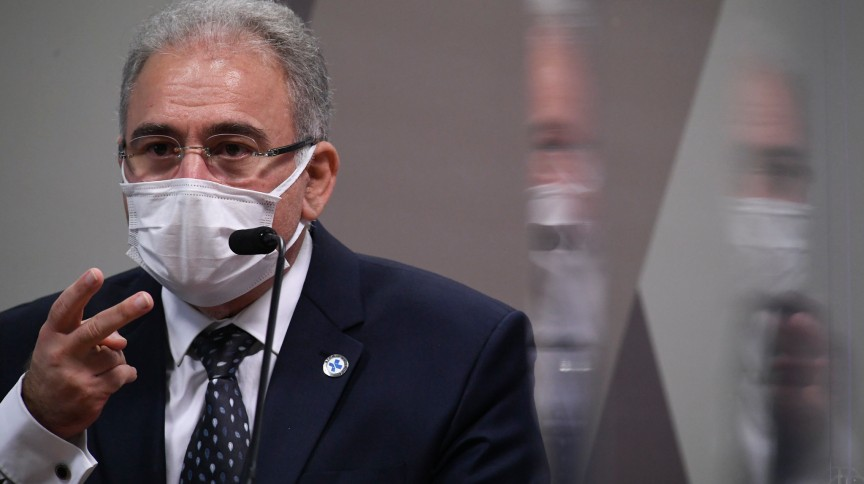 Usando máscara, Queiroga prestou depoimento à CPI pela segunda vez
