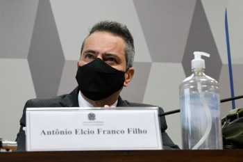 Coronel Antônio Elcio Franco Filho, ex-secretário-executivo do Ministério da Saúde, depôs nesta quarta-feira (9) à CPI da Pandemia