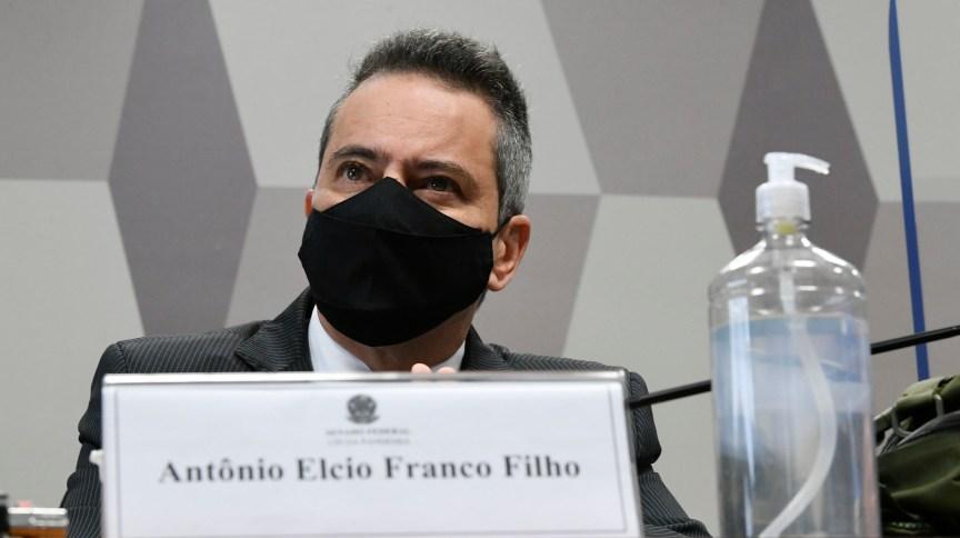 Antônio Elcio Franco Filho, ex-secretário-executivo do Ministério da Saúde, é ouvido pela CPI da Pandemia