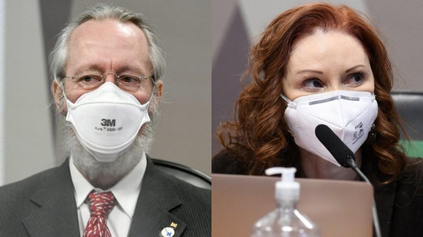 Claudio Maierovitch e Natalia Pasternak prestam depoimento à CPI