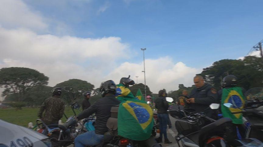 Motociclistas manifestam pró-Bolsonaro em SP (12-06-2021)