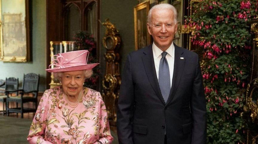 Após reuniões do G7, rainha Elizabeth II recebe o presidente dos EUA Joe Biden