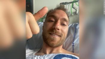 Jogador da Dinamarca deve um colapso em campo no último sábado (12); após a parada cardíaca, ele se recupera bem no hospital