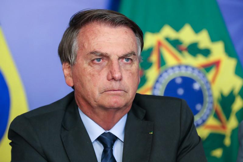 O presidente Jair Bolsonaro em evento em Brasília