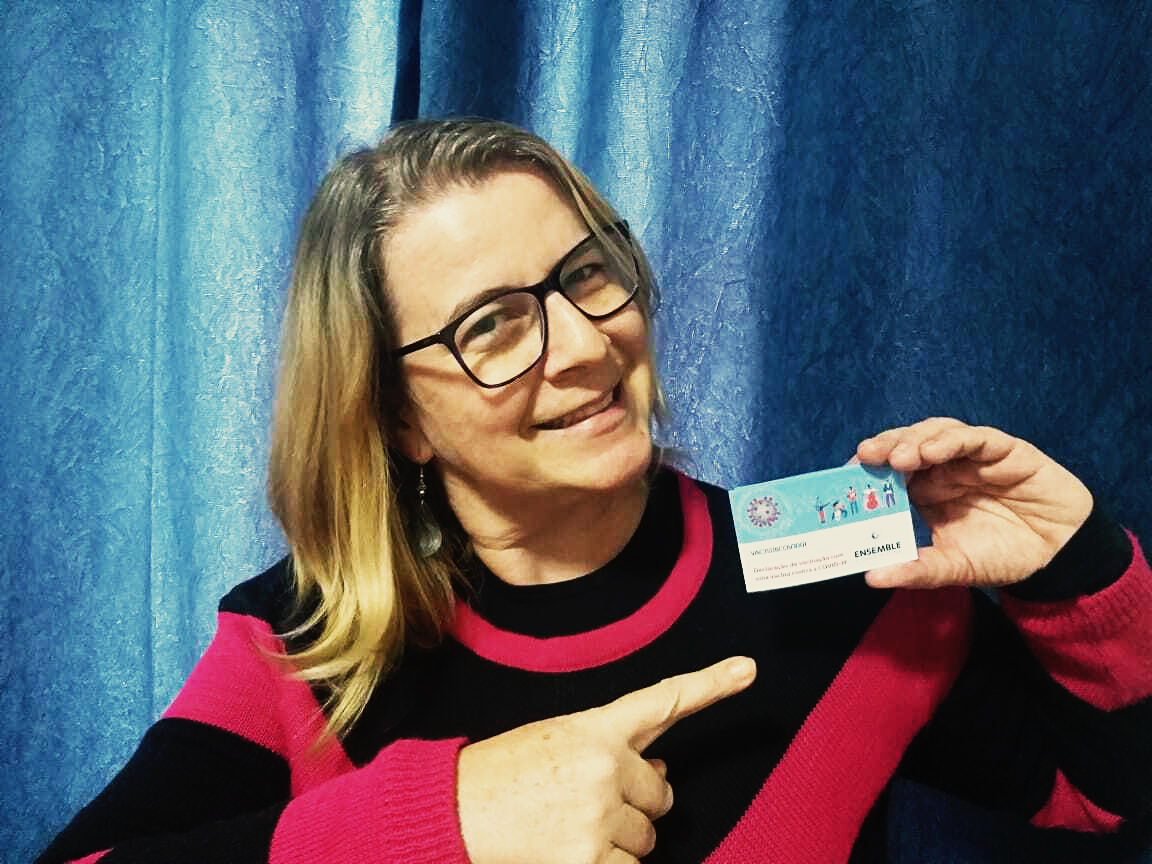 A jornalista Tatiana Teixeira participou das pesquisas da vacina da Janssen
