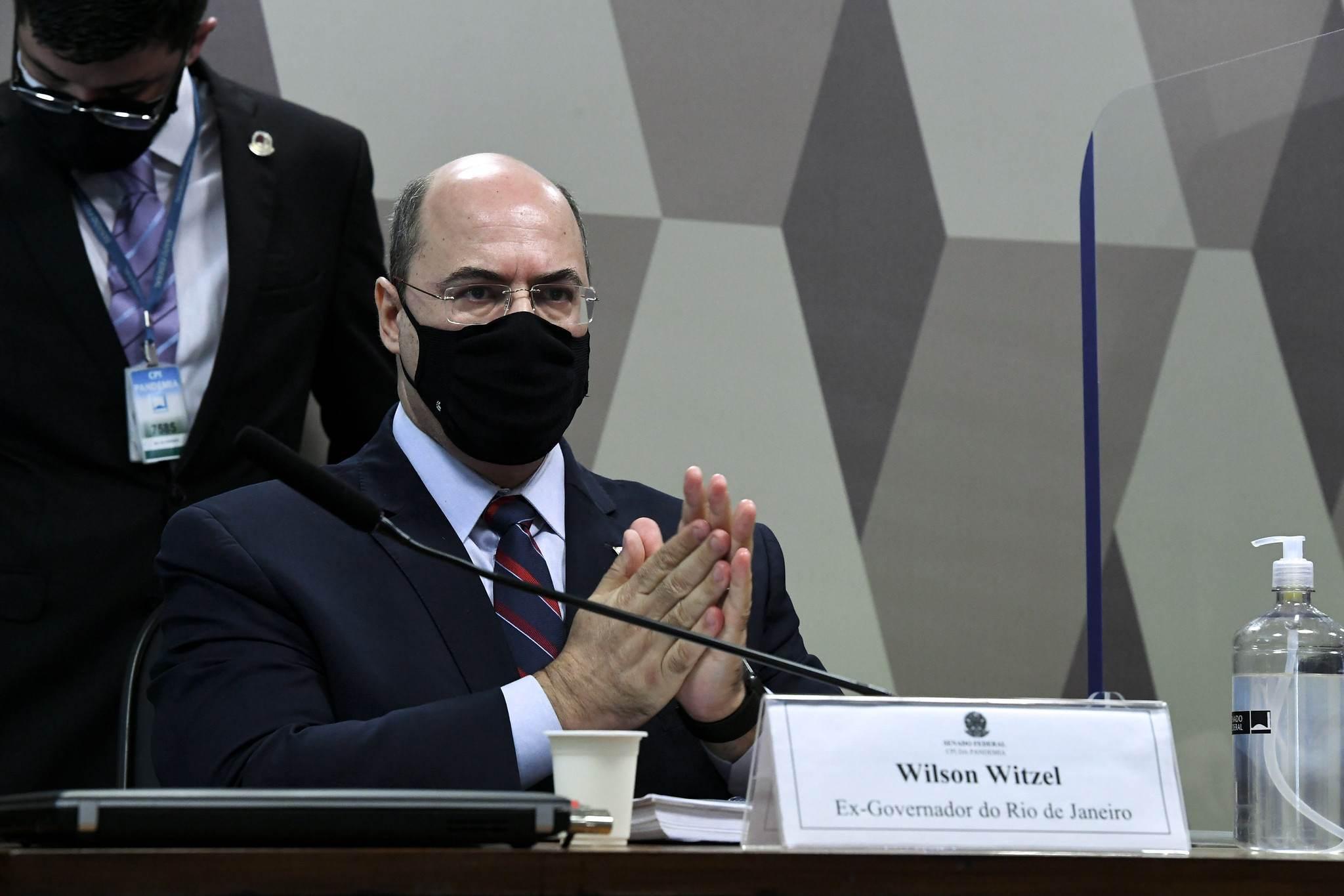 Ex-governador do Rio de Janeiro, Wilson Witzel, é ouvido pela CPI da Pandemia