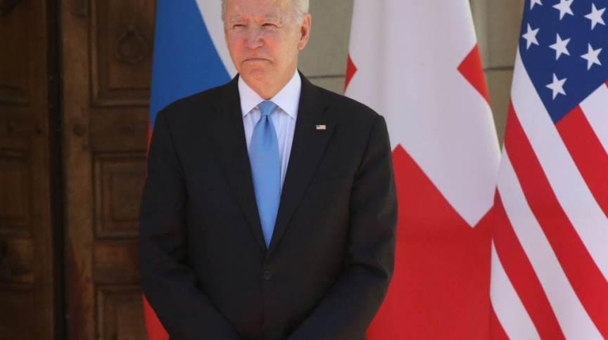 O presidente dos Estados Unidos, Joe Biden, nesta quarta-feira (16), em Genebra, para encontro com Vladimir Putin