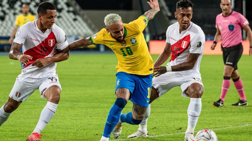 Neymar,durante a partida entre Brasil e Peru, válida pela 2º rodada da fase de grupos da Copa América 2021