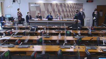 Relator e vice-presidente da comissão se recusaram a continuar de sessão com médicos que defendem 'tratamento precoce' contra a Covid-19