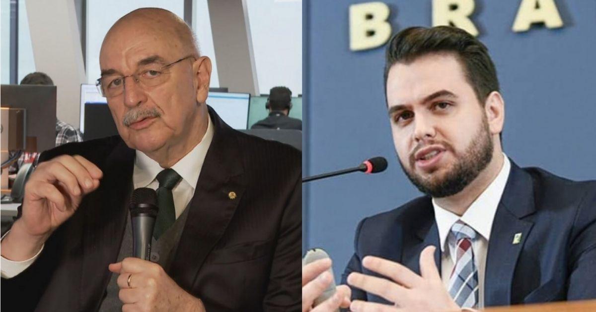 Ex-ministro da Cidadania Osmar Terra, e o assessor da Presidência Filipe Martins