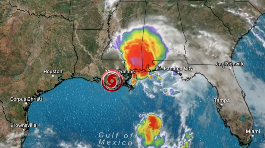 Tempestade tropical Claudette atinge os Estados Unidos