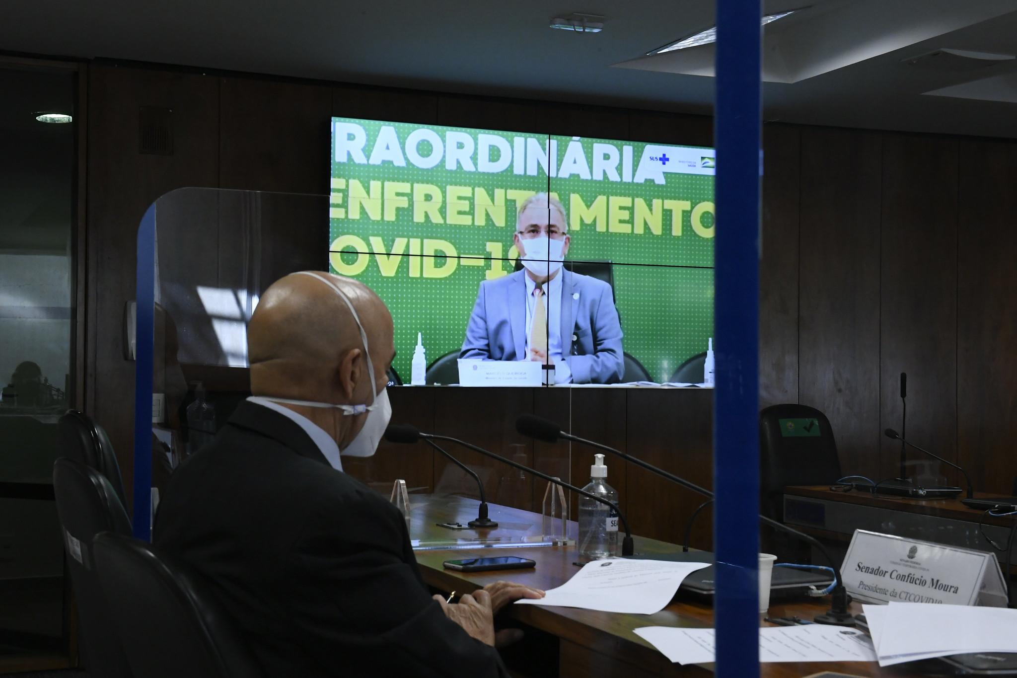 Ministro da Saúde, Marcelo Queiroga, participa de audiência sobre Covid-19