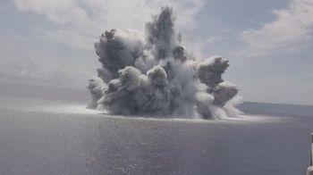 Objetivo era avaliar resistência de porta-aviões em bombardeio com 18 mil quilos de explosivos