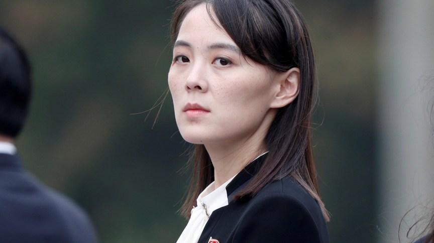 Kim Yo Jong, irmã do líder da Coreia do Norte, Kim Jong Un, em Hanói