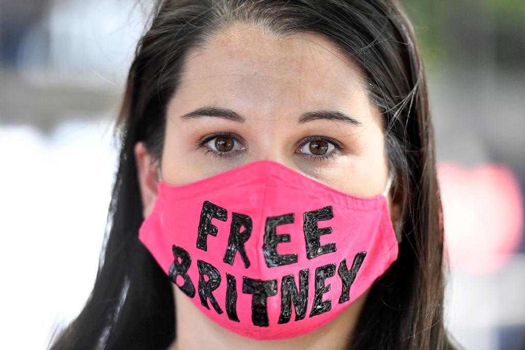 Fã de Britney em protesto em Los Angeles