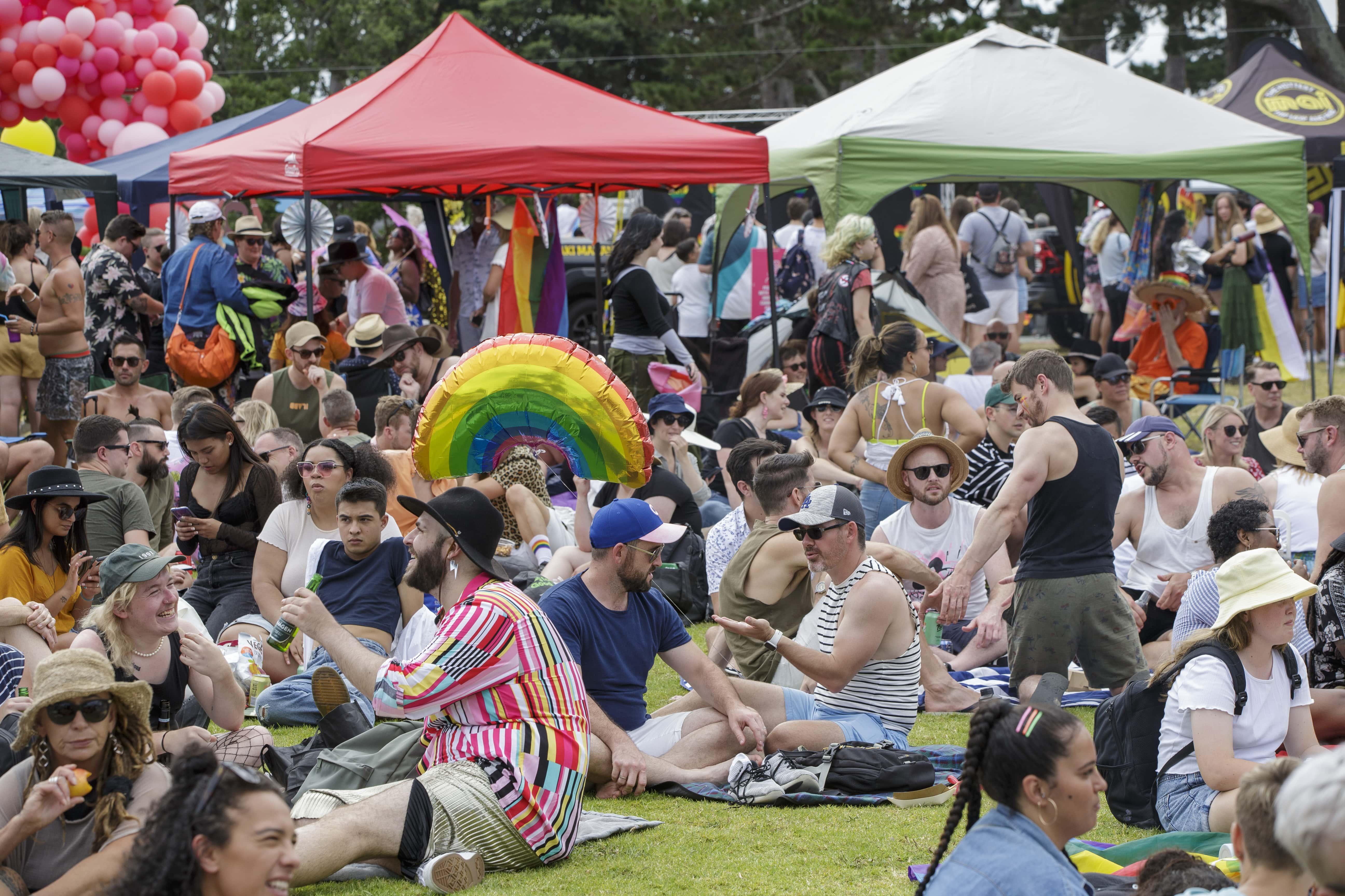 Público em evento do Orgulho LGBT em Auckland, na Nova Zelândia