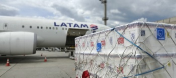 Empresas não cobram pelo serviço; grupo Latam alcança marca de 50 milhões de doses transportadas