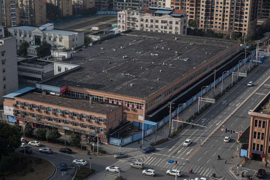 Mercado de Frutos do Mar de Huanan, em Wuhan