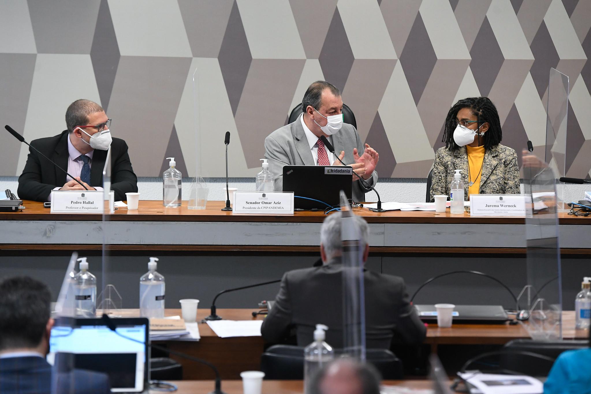 Pedro Hallal e Jurema Werneck prestam depoimento á CPI da Pandemia