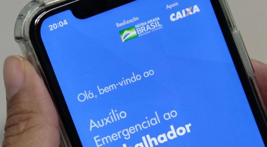 Página inicial do aplicativo de auxíllio emergencial da Caixa Econômica Federal