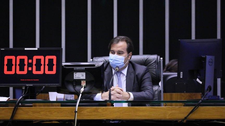 """O presidente da Câmara dos Deputados, Rodrigo Maia: """"Infelizmente, como todos sabem, apenas uma ínfima parte do dinheiro chegou na ponta"""""""