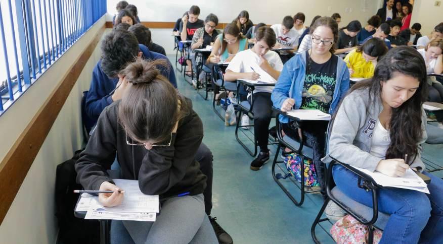 Estudantes fazem a prova do Enem em São Paulo