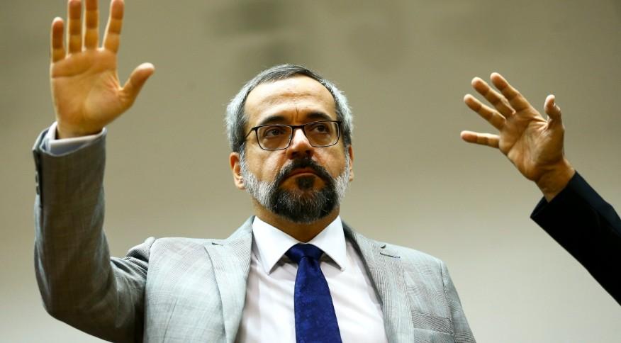 O ministro da Educação, Abraham Weintraub, em evento em Brasília